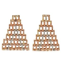 Flexible Mesh Gold Platinum Earrings