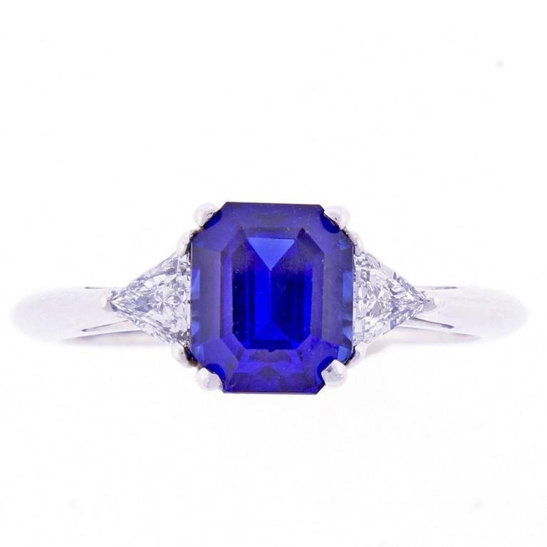 Tiffany & Co. 1.78 Carat Sapphire Diamond Ring