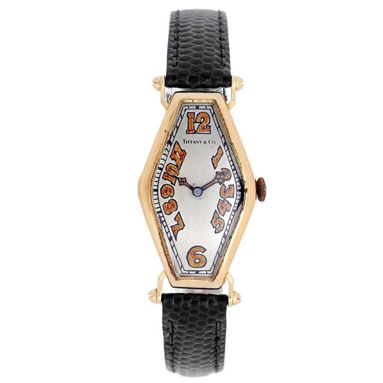 Tiffany & Co. Yellow Gold Manual Wind Wristwatch