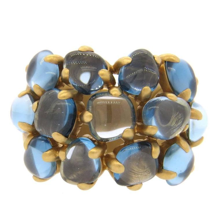 Pomellato Nausica Blue Topaz Gold Ring