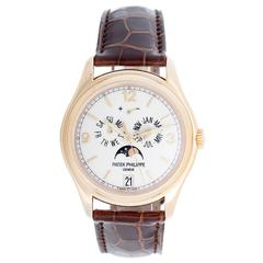Patek Philippe Yellow Gold Annual Calendar Moonphase Automatic Wristwatch