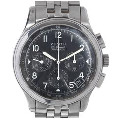 Zenith Stainless Steel El Primero Chronograph Automatic Wristwatch