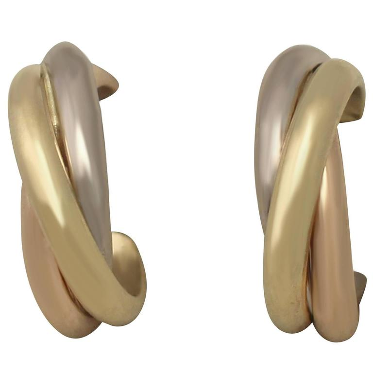 Cartier Trinity de Cartier Gold Hoop Earrings