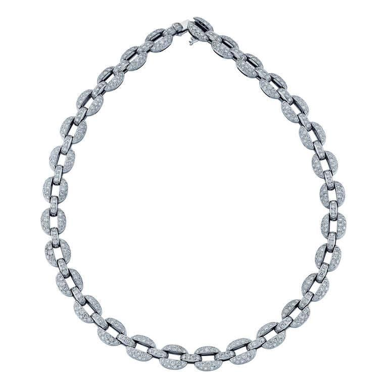 Cartier Diamond and White Gold Necklace