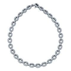 Cartier Micro-Pavé Diamond Link Necklace