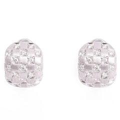 Damiani Checkmate Diamond Gold Earrings