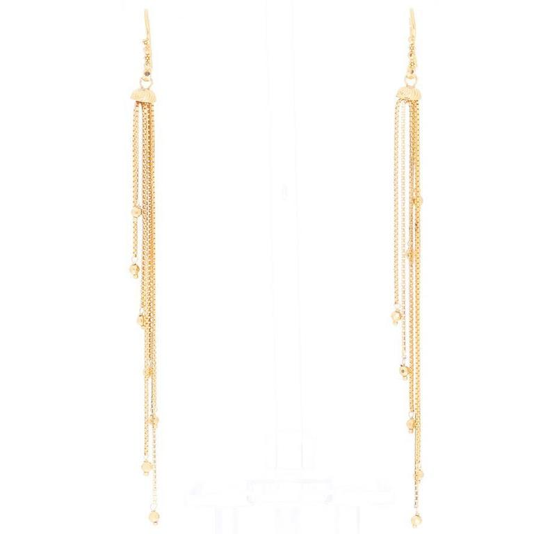 Amazing Gold Dangle Earrings For Sale