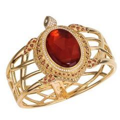 Fire Opal Sapphire Diamond Gold Sea Turtle Cuff Bracelet