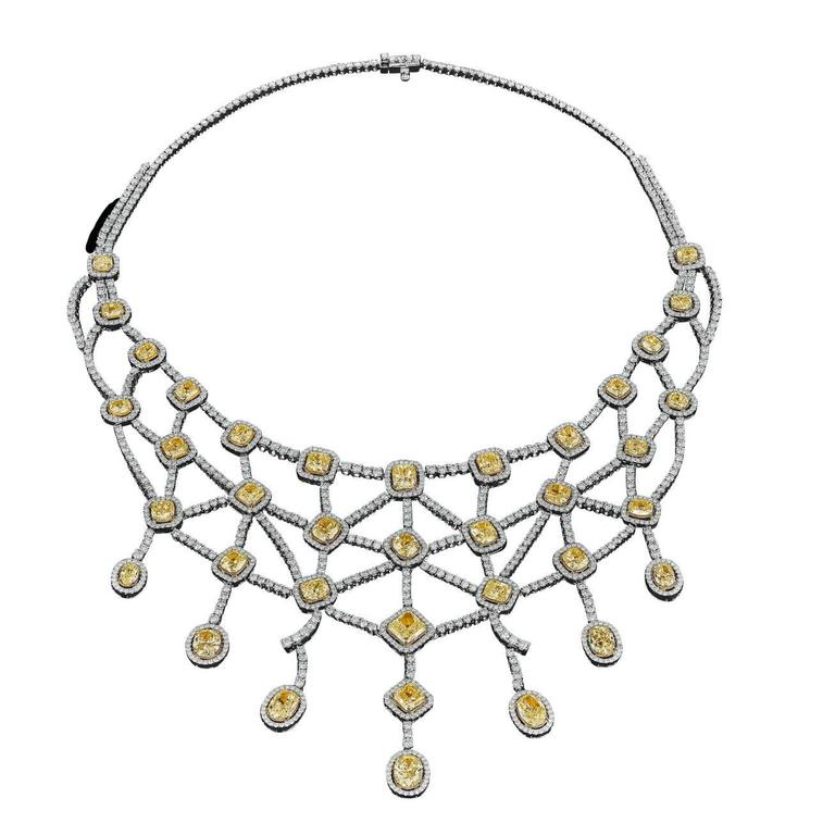 David Rosenberg 51 Carats Fancy Yellow & White Diamond Two-Color Necklace