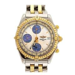 Breitling Yellow Gold Stainless Steel Chronograph Wristwatch