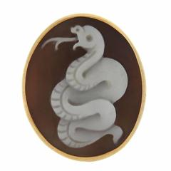 Pomellato Eva Rose Gold Snake Cameo Large Ring