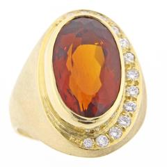 Burle-Marx Citrine and Diamond Ring