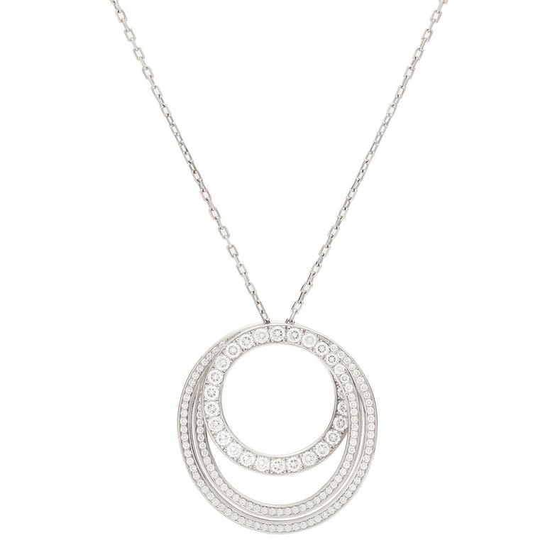 Cartier Paris Nouvelle Vague Diamond Gold Necklace For Sale