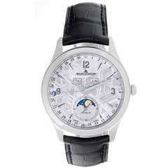 Jaeger-LeCoultre Stainless Steel Master Calendar Meteorite Automatic Wristwatch