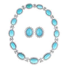 Chantecler Capri Turquoise Diamond Necklace Set
