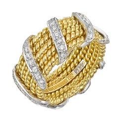 Tiffany & Co. Schlumberger Diamond Gold Wrap Band Ring