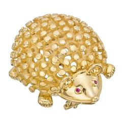 Tiffany & Co. Schlumberger ​Gold Hedgehog Pin