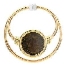 Bulgari Monete Antiche Ancient Coin Gold Pendant