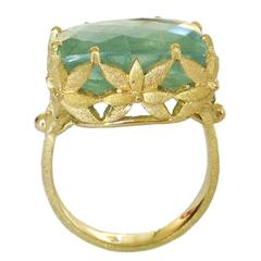 Dalben Aquamarine Gold Ring