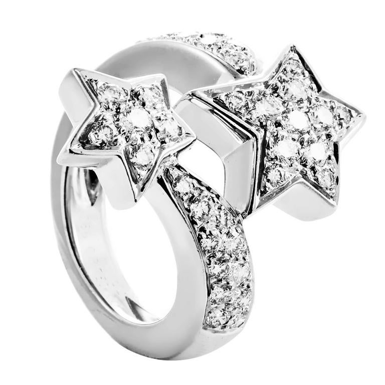 69d14ddc0 Chanel Comete Diamond White Gold Shooting Star Ring at 1stdibs
