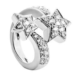 Chanel Comete Diamond Gold Shooting Star Ring