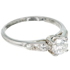 .65 Carat Diamond Art Deco Platinum Engagement Ring