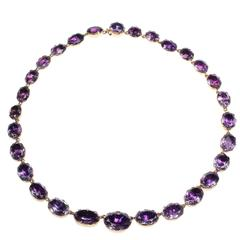 Georgian Amethyst Gold Riviere Necklace