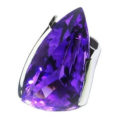 Magnificent Brazilian Amethyst in Custom Sterling Silver Ring
