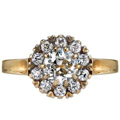 0.72ct Vintage Cluster Engagement Ring