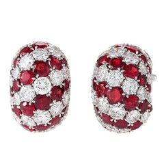 Van Cleef & Arpels Ruby and Diamond Earrings