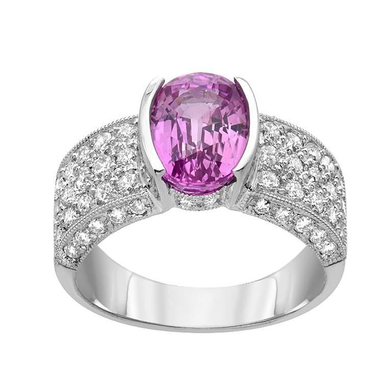 pink sapphire gold ring for sale at 1stdibs