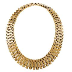 English Victorian Gold Link Necklace