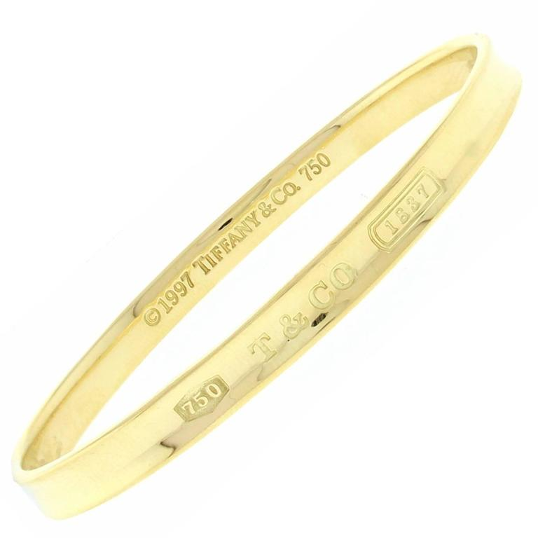 Tiffany Co 1837 Gold Bangle Bracelet For