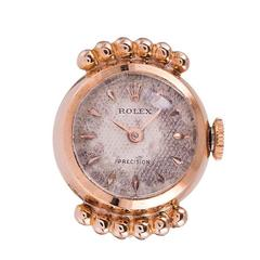 Rolex Rose Gold Ring Watch Ref 8309