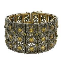 Luise Topaz Diamond Silver Gold Bracelet