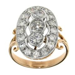 Art Deco Style Gold Diamond Ring