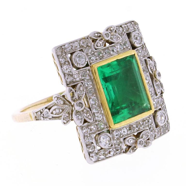 antique emerald and ring at 1stdibs