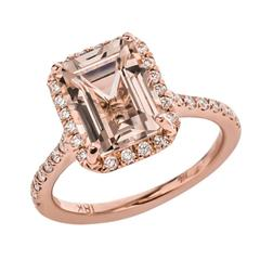 One of a Kind 3.58 Carat Morganite and Diamond Ring