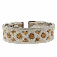 Buccellati Gold Sterling Silver Cuff Bracelet