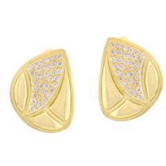 Burle-Marx Diamond Gold Free Form Earrings