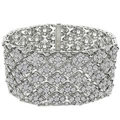 Astonishing 24 Carat Diamond Platinum Bracelet