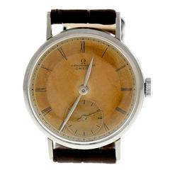 Omega Steel Chronometer Manual Wind Wristwatch