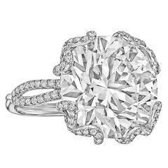 "Betteridge 14.92 Carat Round Brilliant Diamond ""Love Knot"" Engagement Ring"