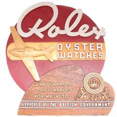 Extremely Rare 1940's Rolex Dealer Counter Display