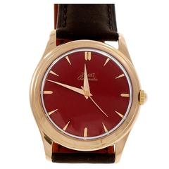 Piaget Rose Gold Automatic Custom Dial Wristwatch
