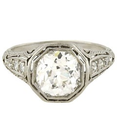 Art Deco 2.40 Carat Diamond Engagement Ring
