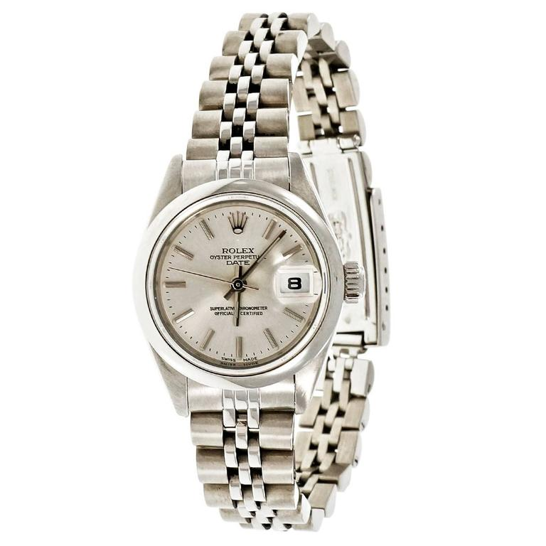 Rolex Ladies' Steel Oyster Perpetual Date Wristwatch 1