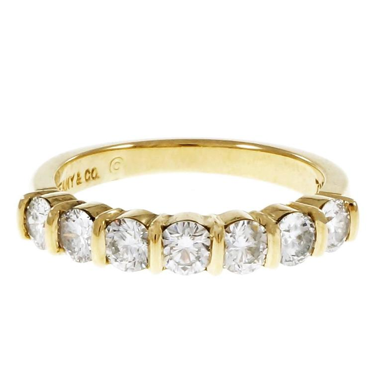 Tiffany & Co Seven Diamond Gold Wedding Band
