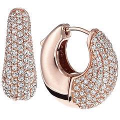 Hand Made Micro Pave Diamond Earrings