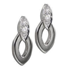 Cartier Diadea Diamond Gold Earrings
